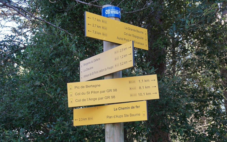 Signpost at Col de Bertagne