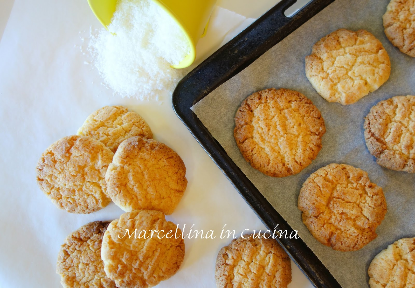 Coconut Biscuits Crispy And Crunchy Marcellina In Cucina
