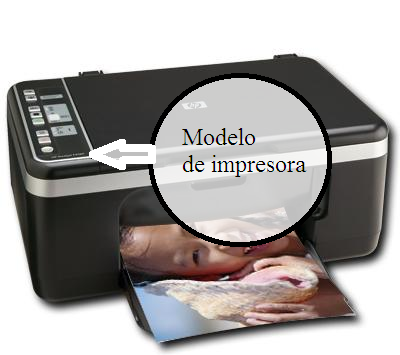 how know what is the model of printer see the picture