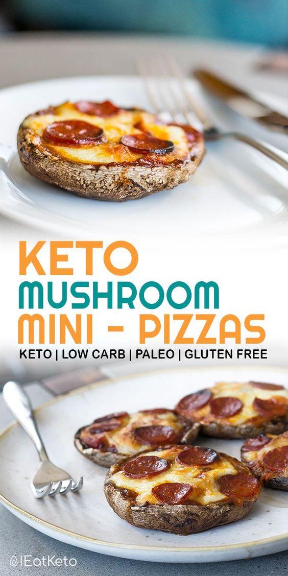 Portobello Mushroom Mini Keto Pizzas