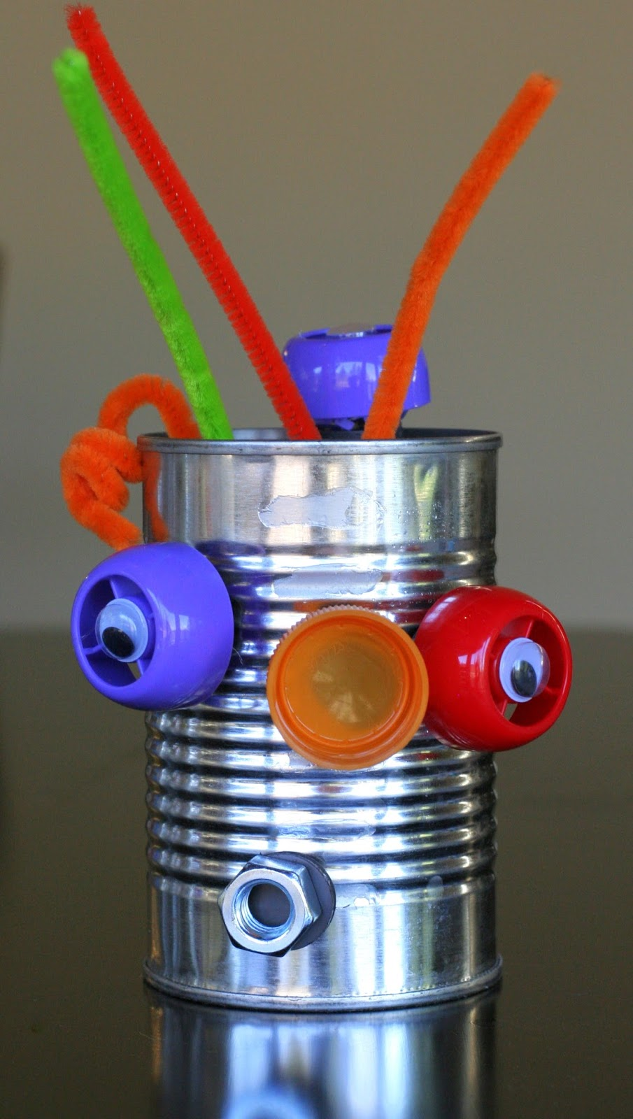 Mix and match recycled robots for Usable things made from recycled materials