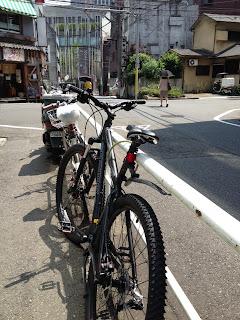 My new Northrock mountain bike, Tokyo.