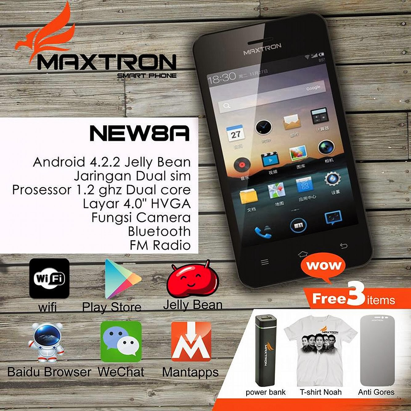 Tempat Jual Maxtron C15 12000 Mah Brown Army Referensi Update 2018 New7a Smartphone New 8a Android Jelly Bean Dual Core Ponsel
