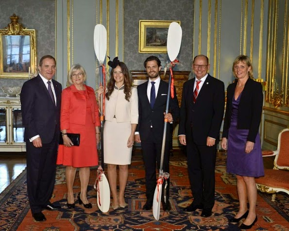 Prince Carl Philip And Sofia Hellqvist Held A Private Reception At The Royal Palace