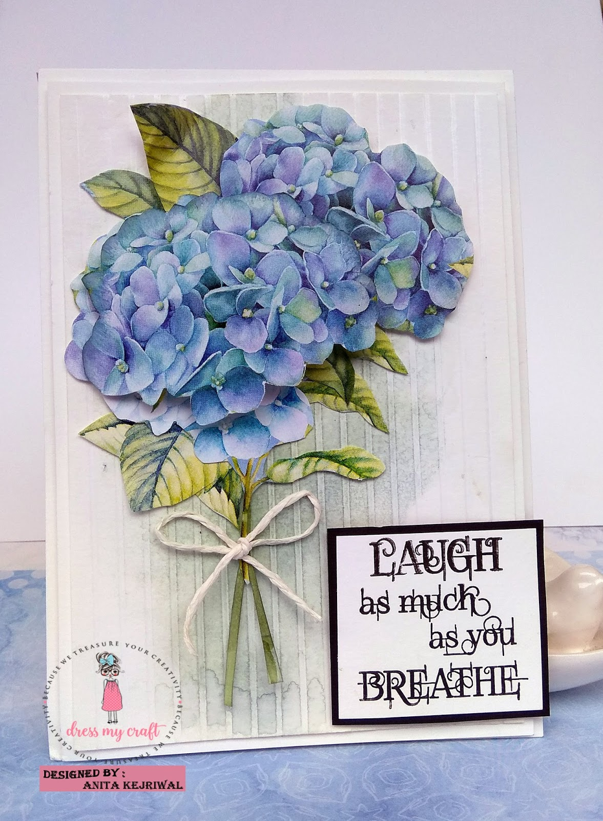 Dress My Craft Elegant Cards With 6x6 Hydrangea Lawns Paper