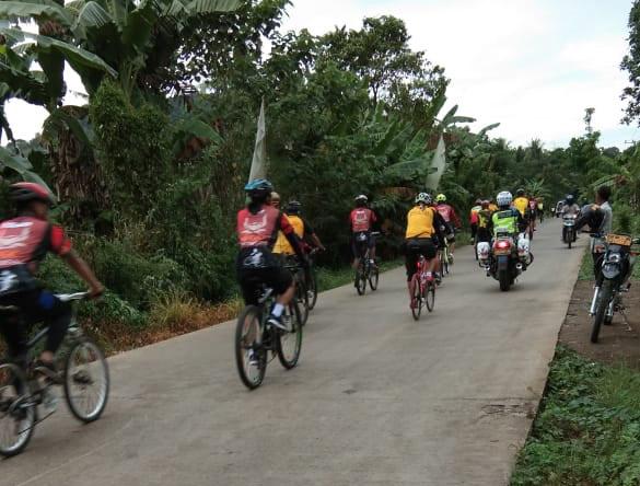 Dampingi Wakapolda Sulsel dan Rombongan Bersepeda Santai Kapolres Gowa Bersemangat