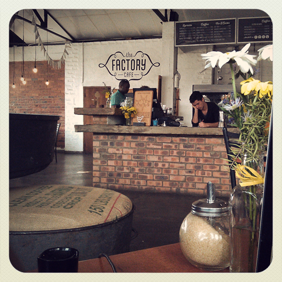 The Factory Cafe - One of my temporary workspaces in Durban