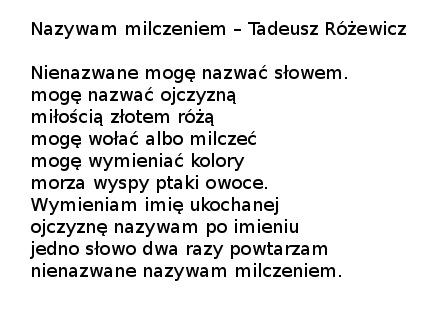 Sława Kornacka Tadeusz Różewicz Krzyk Milczenia
