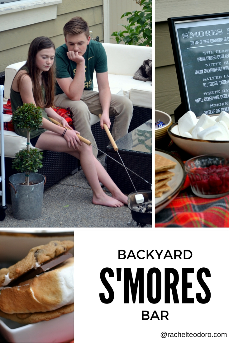 backyard s u0027mores bar with free printable gourmet s u0027mores menu