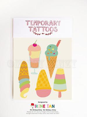 temporary tattoos for kids ice creams