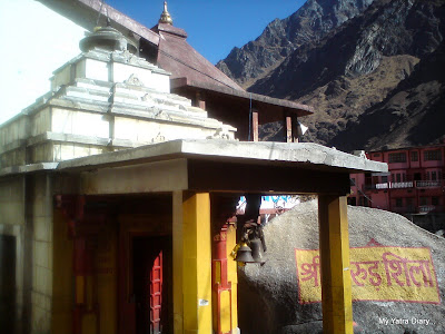 Adi Kedareshwar Temple in Badrinath besides the Garud  Shila