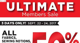 Fabricland Canada Flyer September 22 - 24, 2017