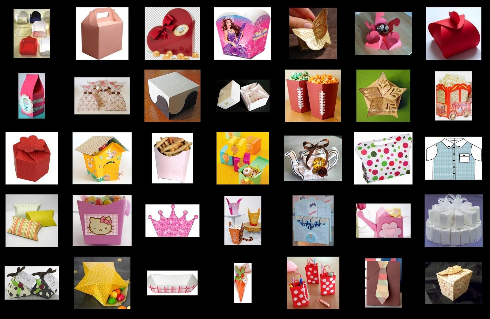 Moldes Gratis de Cajas para Fiestas  Ideas y material gratis