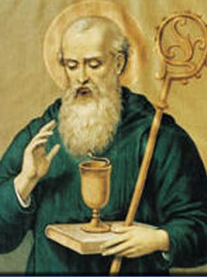 San Benito con la copa envenenada