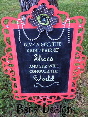 chalkboard sign tutorial template diy give girl right shoes conquer