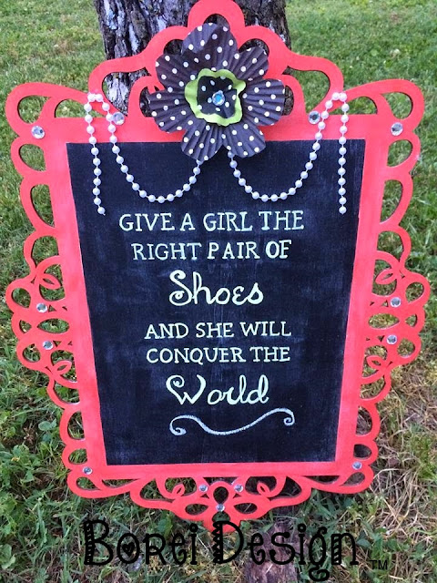 Tutorial Girl The Right Shoes DIY Chalkboard Craft Borei Design