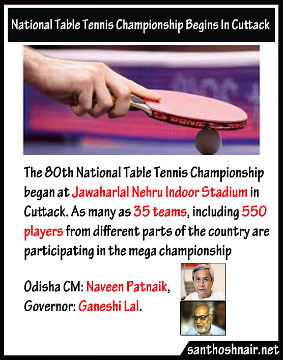 National Table Tennis Championship begins in Cuttack