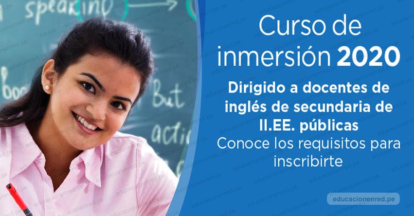 PERUEDUCA: Curso de inmersión metodológico 2020 para docentes de Inglés [PREINSCRIPCIONES ONLINE] www.perueduca.pe