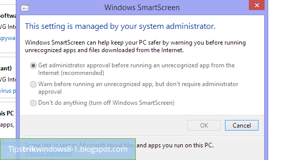 error this setting is managed by your system administrator