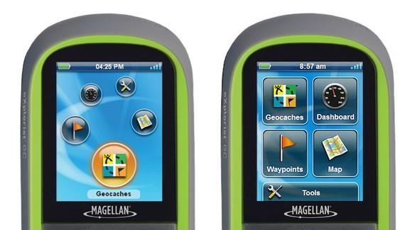 Главное меню навигатора Magellan eXplorist GC: старое и новое