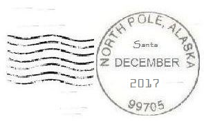 2017 North Pole Postmark