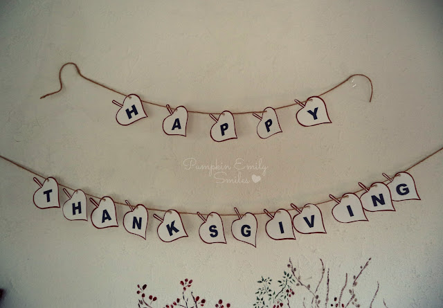 Happy Thanksgiving Garland