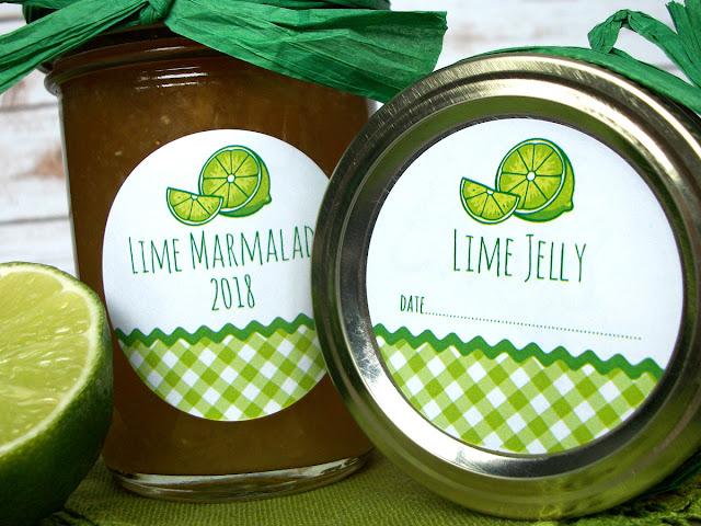 Gingham Lime Mason Jar Labels