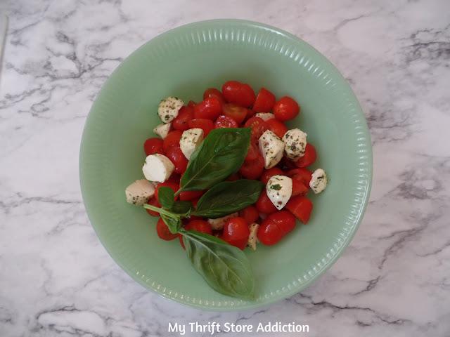 simple caprese pasta salad
