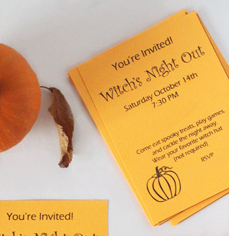 cute invites to witch's night out party