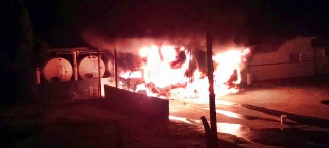 Iretama: Caminhão é consumido pelo fogo