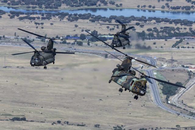 Boeing modernize Spanish Chinook