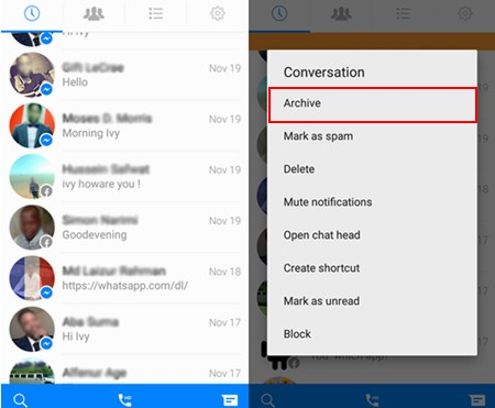 How to Archive the Messages on Device