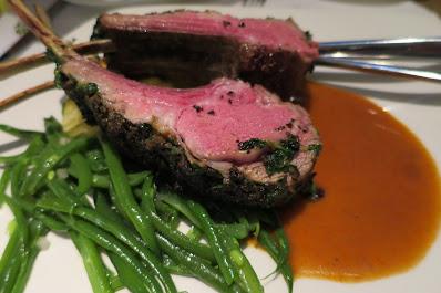 Spasso Italian Bar & Restaurant, lamb chops truffle crust