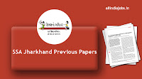 SSA Jharkhand Full Time Teacher Previous Papers