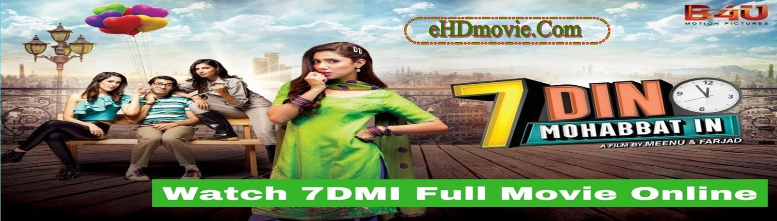 7 Din Mohabbat In 2018 Full Movie Urdu 720p - HEVC - 480p ORG HDRip 350MB - 550MB - 1GB ESubs Free Download
