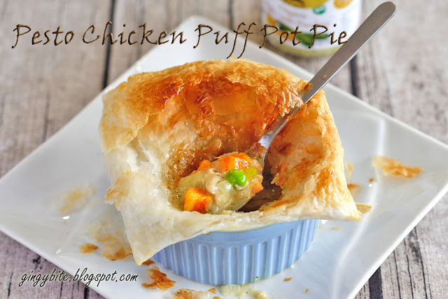 Pesto Chicken Puff Pot Pie + Alce Nero & SHC Giveaway!