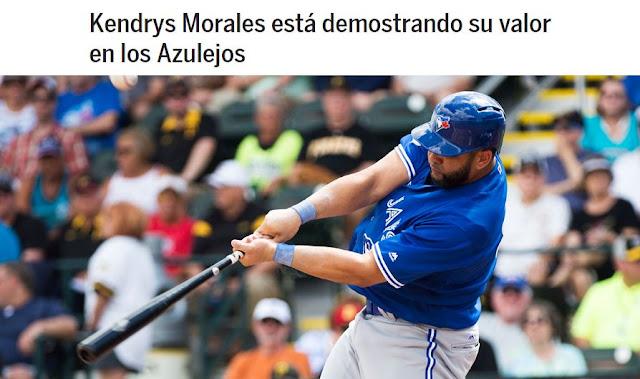 En cinco juegos en la Liga de la Toronto esta primavera, Morales batea .545, con seis hits en 11 turnos, un jonrón, tres empujadas y un slugging de .909.