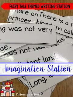 Looking for a way to spice up your writing station – check out these writing packets for your writing center – there are writing prompts, writing papers, and vocabulary to go along with the theme.  This packet is centered on fairy tales so is perfect for imagination writing – let the creative juices flow!  Check out the other themes as well – there are 2 I can't wait to use for the end of the year! These are perfect for kindergarten, first grade, and even second grade!