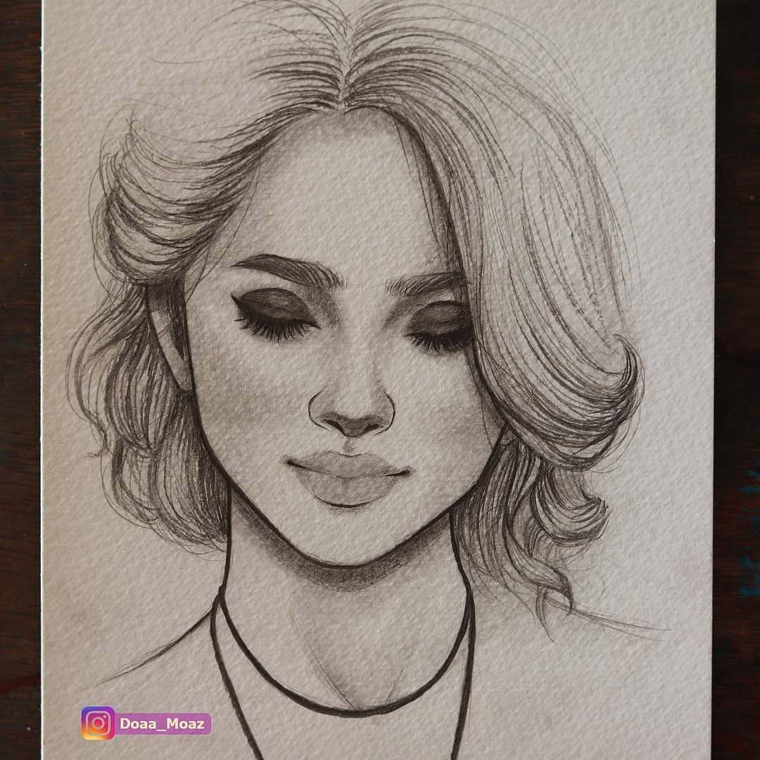 09-Doaa-Moaz-Female-Portrait-Drawings-www-designstack-co