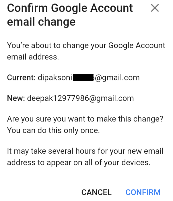 How to Change Email I'd Username Address