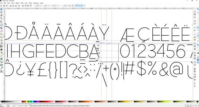 Inkscape Software - Font Design