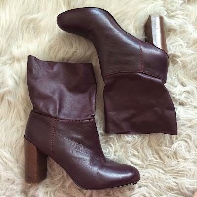 Wine Oxblood Vince Chase Burgundy Foldover Boots Bordeaux
