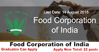 Food Corporation of India Recruitment 2015