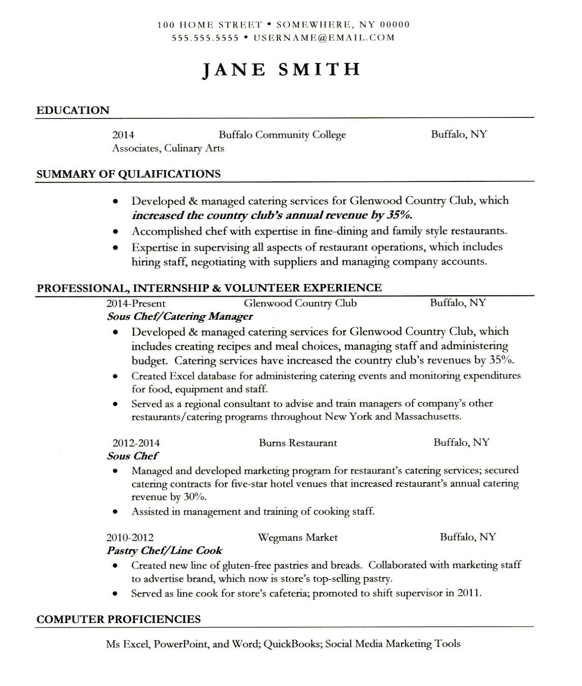anonymous resume sample