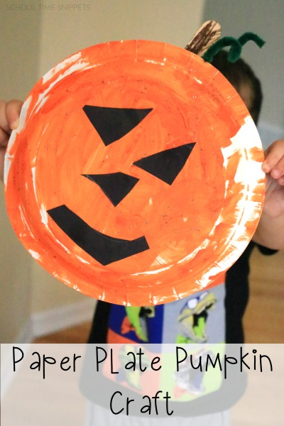 Our latest craft was full of fine motor skills and the end result were adorable and simple Paper Plate Pumpkins. & Easy Paper Plate Pumpkin Craft | School Time Snippets