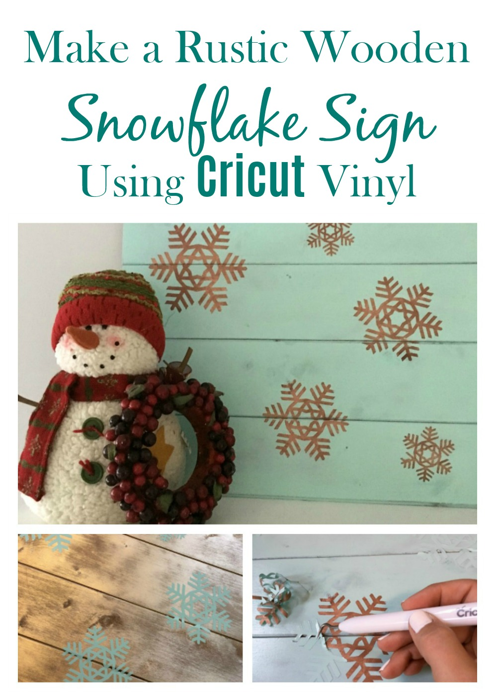 Real Girl\u0027s Realm: Rustic Wooden Snowflake Sign
