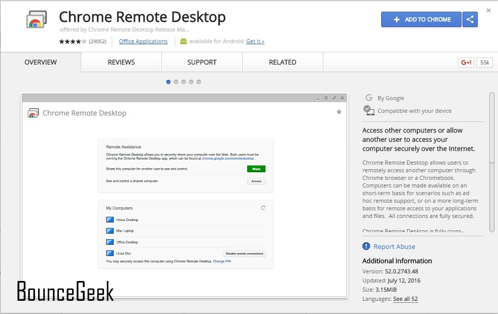 How to access any computer using Chrome Remote Desktop - BounceGeek