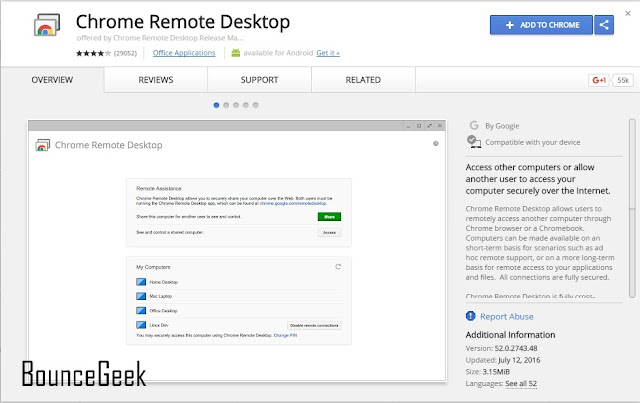 Chrome Remote Desktop - Chrome Web Store