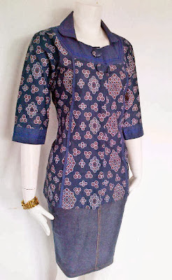 Desain Baju Batik Wanita Modis Modern Terbaru