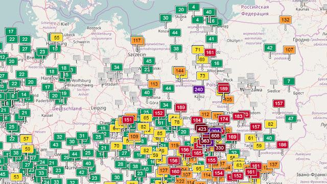 Zanieczyszczenie i jakość powietrza w Polsce